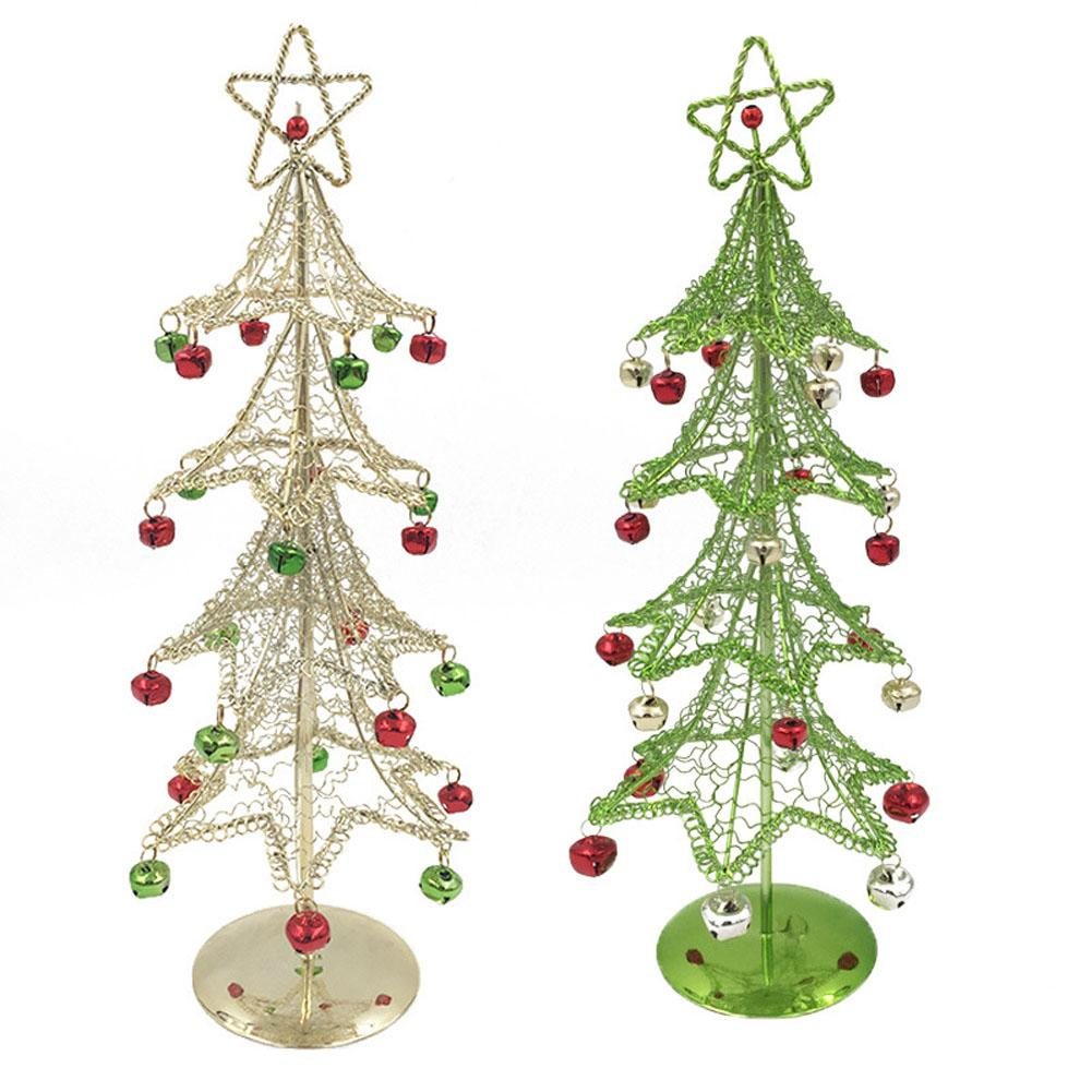 Small Silver Christmas Tree.Us 11 03 29 Off Mini Christmas Tree White Green Cedar Wrought Iron Desktop Small Christmas Pine Tree Office Home Ornaments In Trees From Home