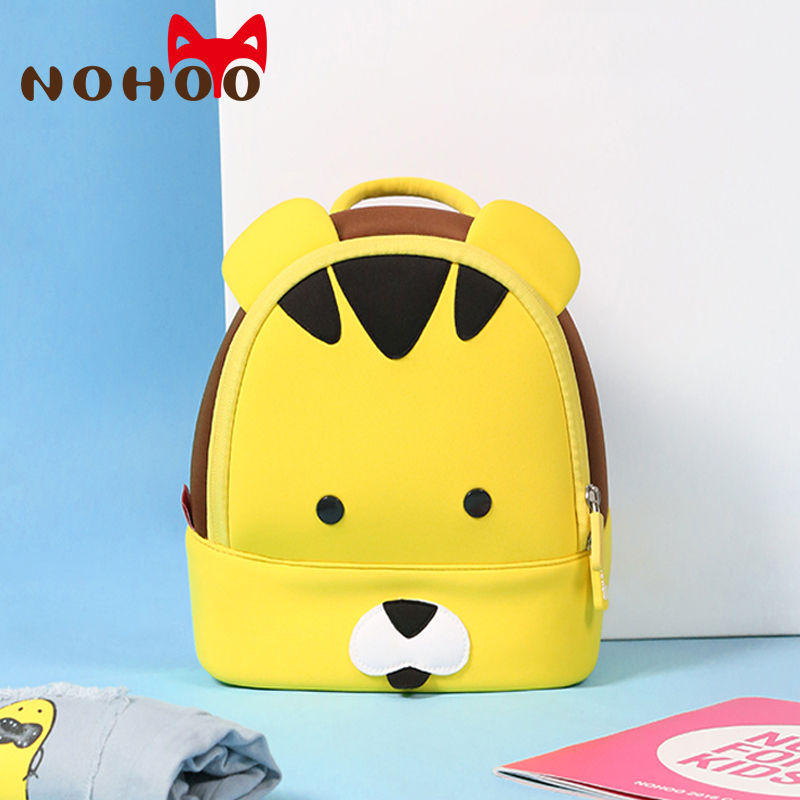 NOHOO Tiger Waterproof Small Backpacks Kids Children Animals Printing Backpack For Girls Boys Kid's School Bags Age 2-5
