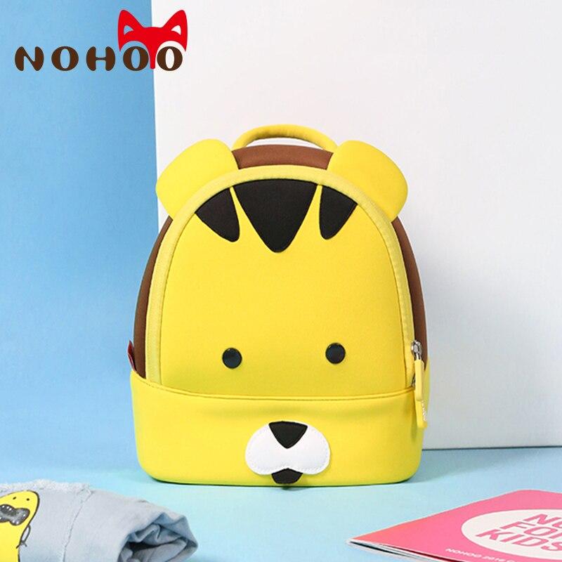 afa240e44d1c3 NOHOO tygrys wodoodporne małe plecaki dla dzieci dla dzieci zwierzęta  drukowanie plecak dla dziewcząt chłopców dla dzieci torby szkolne dzieci w  wieku 2 5 w ...