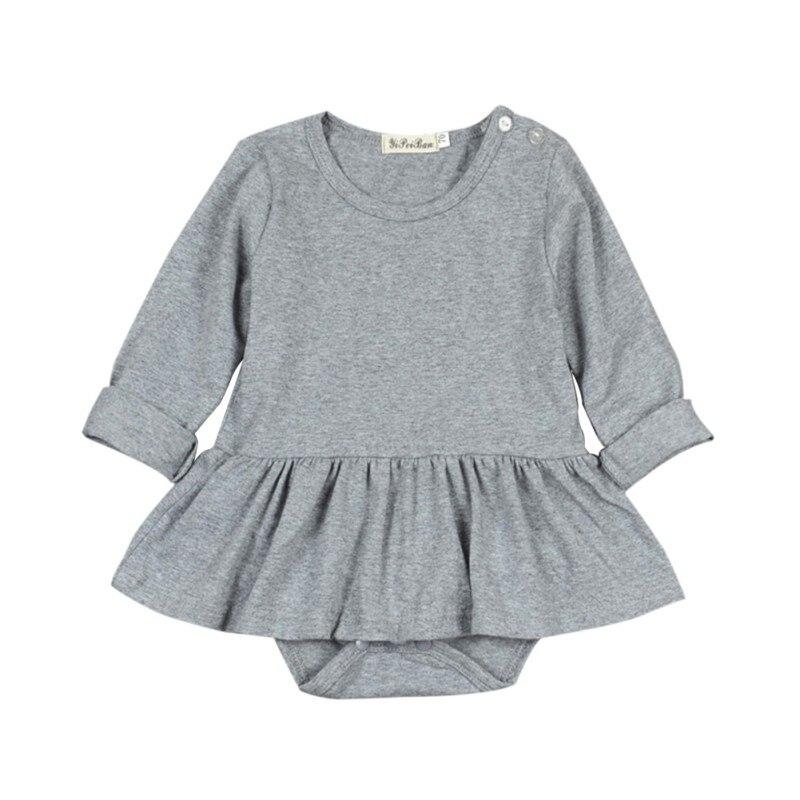 65a124c60e2 Newborn Infant Baby Girls Long Sleeve Romper Skirt Jumpsuit Outfits Sunsuit  Clothes 0-24M