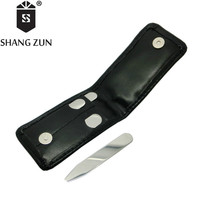 SHANG ZUN 4 PCS Double Side Mirror Polished Collar Stays Bones Stiffeners in 2 Sizes 2.2/2.5 Inch