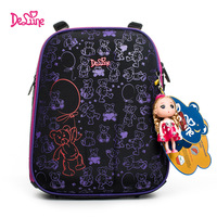 Delune 2019 fashion 3D cartoon children school bags for girls printing school backpack children Orthopedic Schoolbag design kids