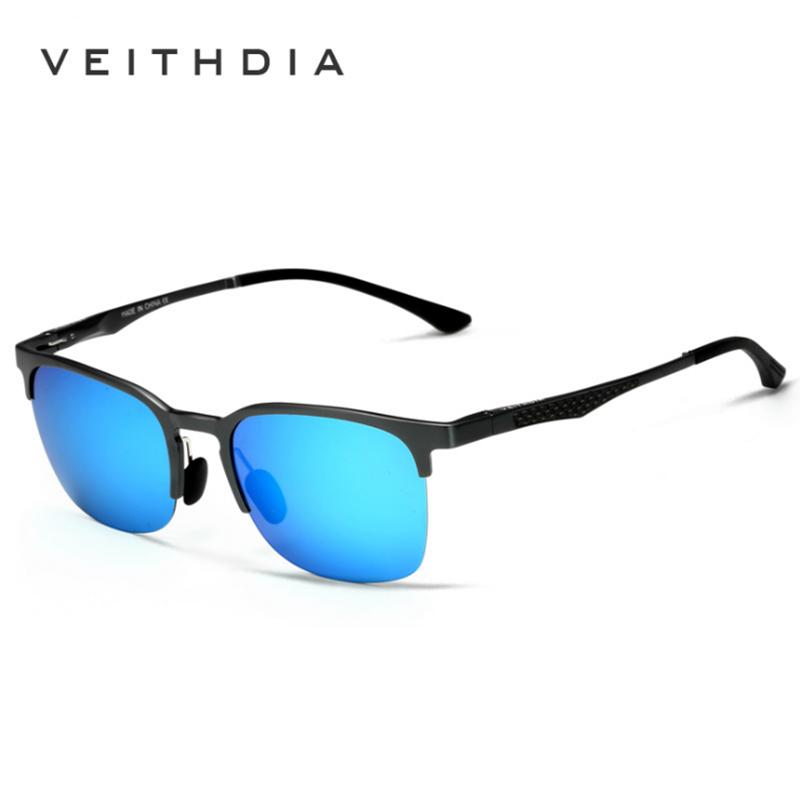 VEITHDIA Unisex Retro Aluminio Magnesio Semi sin montura Gafas de sol - Accesorios para la ropa - foto 5