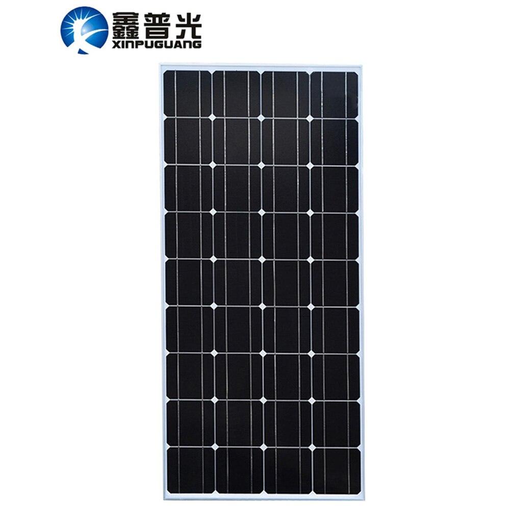 Xinpuguang 100W 18V Solar Panel Cell Cell Monocrystalline PV Module Kit MC4 12V Battery RV Light Roof Power Charger