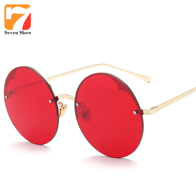 464b50b2574ab 2017 Moda Homens Steampunk Rodada Óculos De Sol Das Mulheres Designer de  Marca Do Vintage Óculos