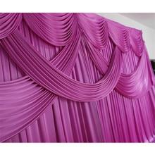 Ледяной шелк свадебные занавески фон для фотографирования с изображением кирпичной стены swag для вечерние банкетные украшения ко дню рождения