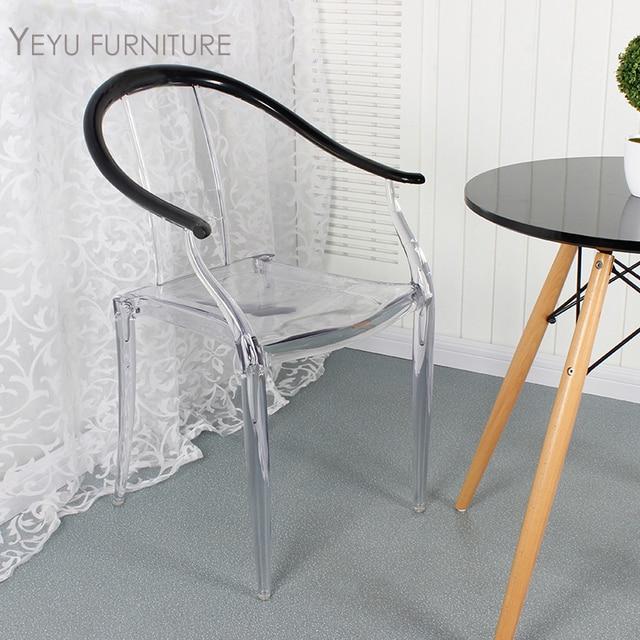 modernes design transparent clear crystal esszimmerstuhl beliebte nizza double farbe stuhl replik mbel - Stuhl Replik