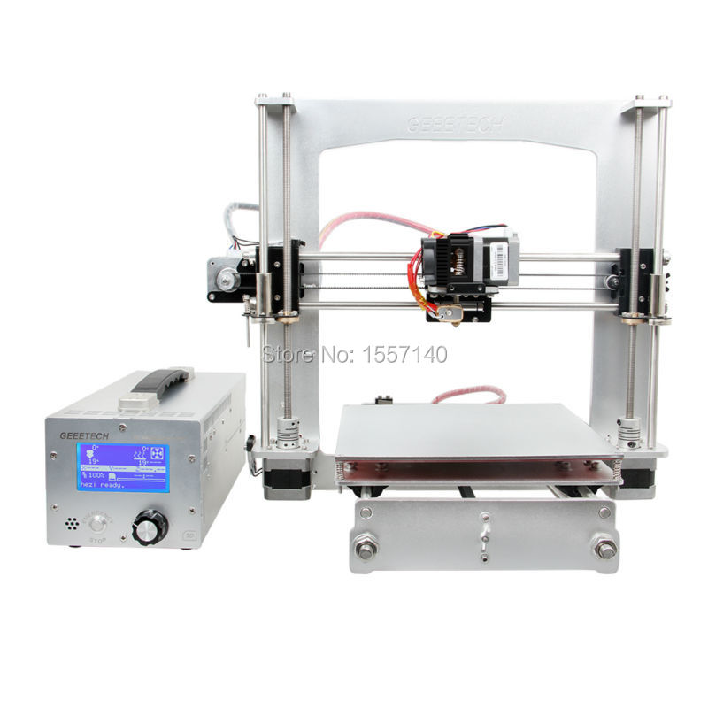 Aluminum Prusa  I3 3D Printer Diy Kit FFF/FDM GT2560 Board LCD 2004 With 3-in-1 3D printer control box 3D Filament 200M