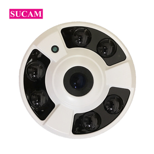 SUCAM 4MP CCTV 180 Degrees Camera Home Indoor Security Dome 6 Pieces Array Led Light Surveillance IP Network Cameras with IR Cut
