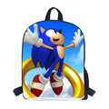 2016 All for School Students School Bag Sonic Style Boys Sonic The Hedgehog School Bag Escolar Mochila for teenagers do sonic