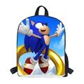 2016 Todos Los Muchachos Bolsa de la Escuela Los Estudiantes Estilo de Sonic Sonic The Hedgehog Mochila Escolar Mochila Escolar para adolescentes do de sonic