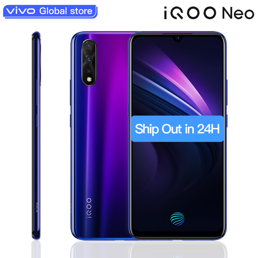 Smartphone d'origine vivo iQOO Neo Android 9 6GB 128GB prise en Charge 22.5W Charge rapide 6.38
