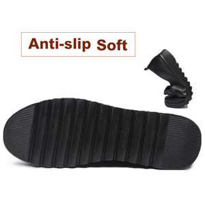 Image 5 - 패션 여성 플랫 가죽 신발 여성 슬립 로퍼에 안티 슬립 Moccasins 숙녀 신발 블랙 Zapatillas Mujer 캐주얼