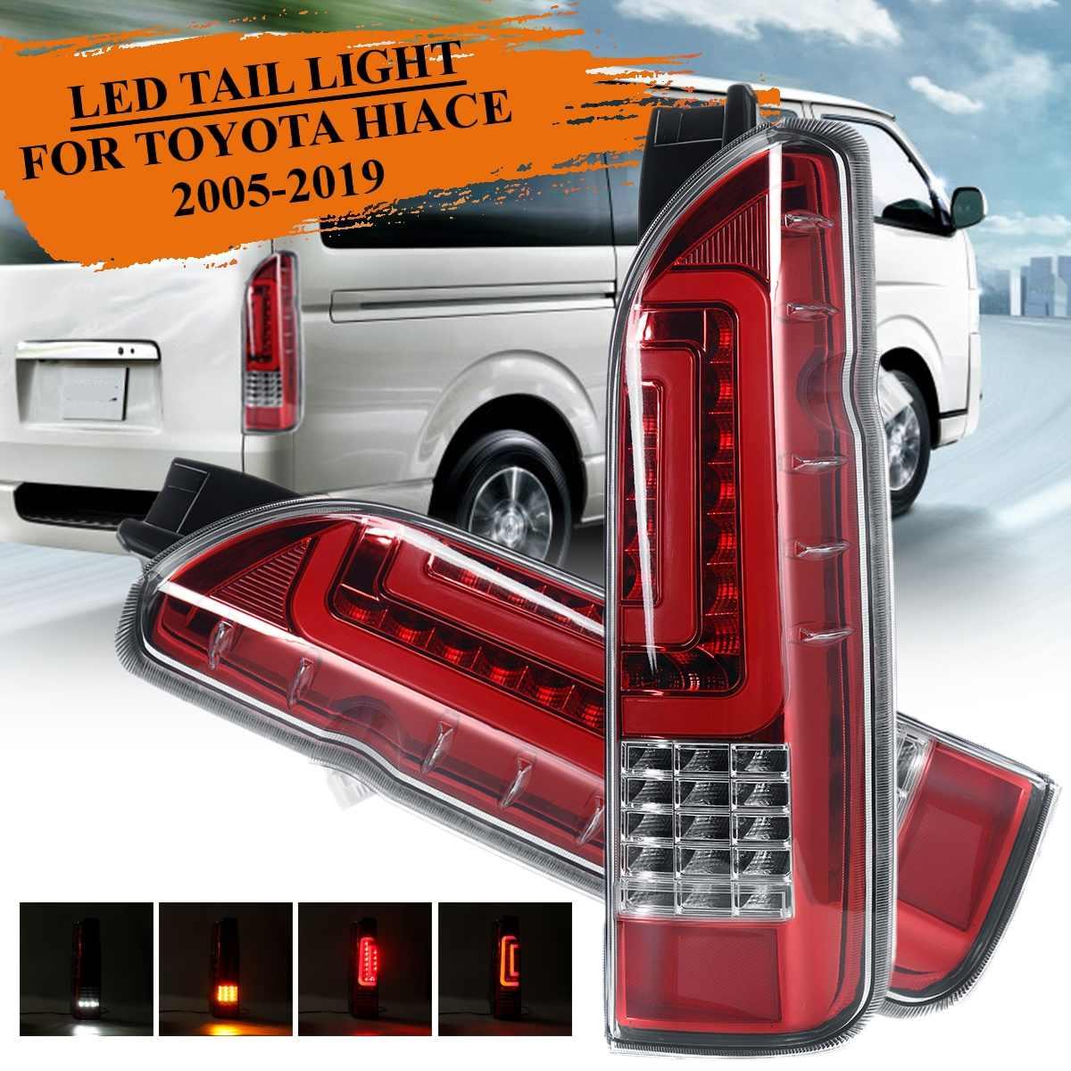 12V Car Led Tail Light FOR TOYOTA HIACE 2005 2019 Taillight Rear Reverse Brake Light Fog Light Lamp Drl Accessories Styling