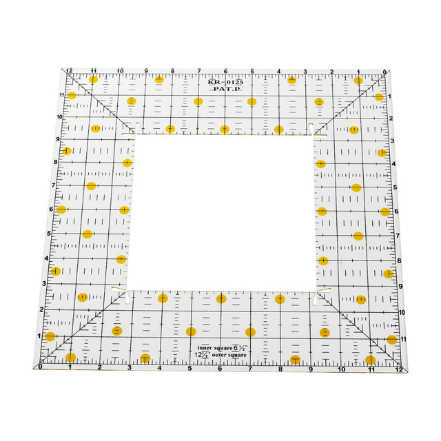 1pcs square patchwork ruler acrylic sewing quilting ruler templates 1pcs square patchwork ruler acrylic sewing quilting ruler templates tool square inch ruler 2 style maxwellsz