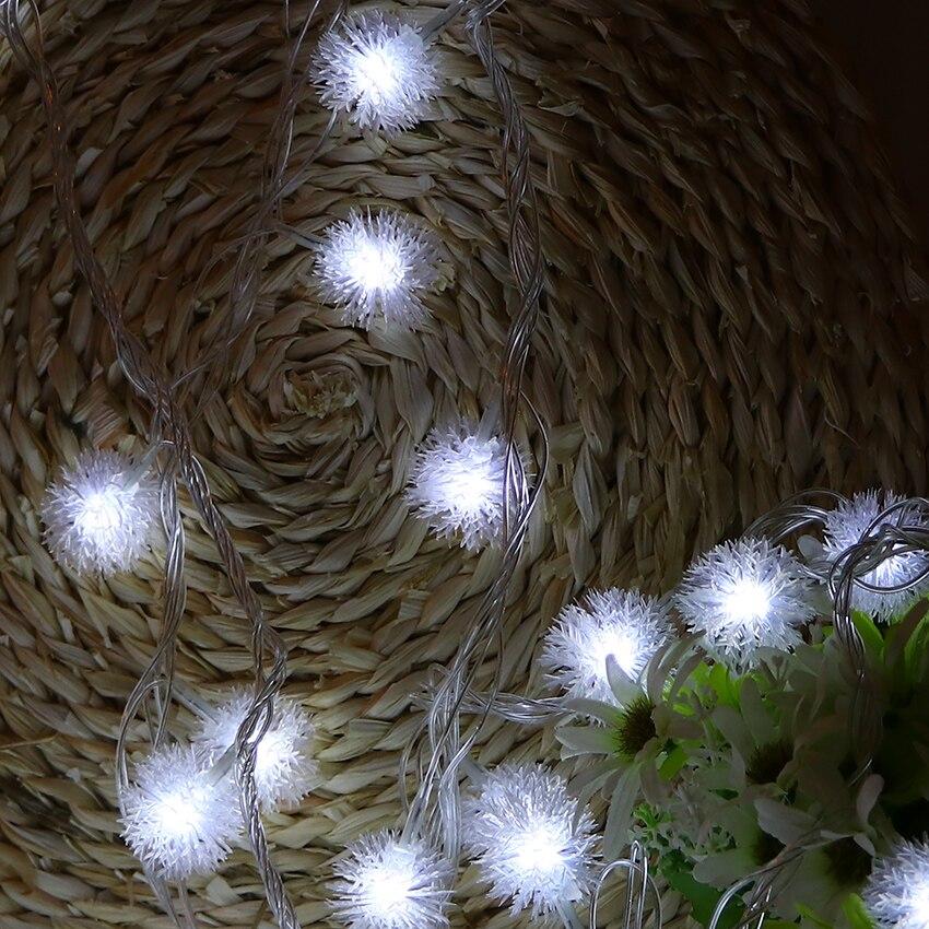 5 Mt 40 Lampen Batteriebetriebene LED Cotton Ball Lichter Kette ...