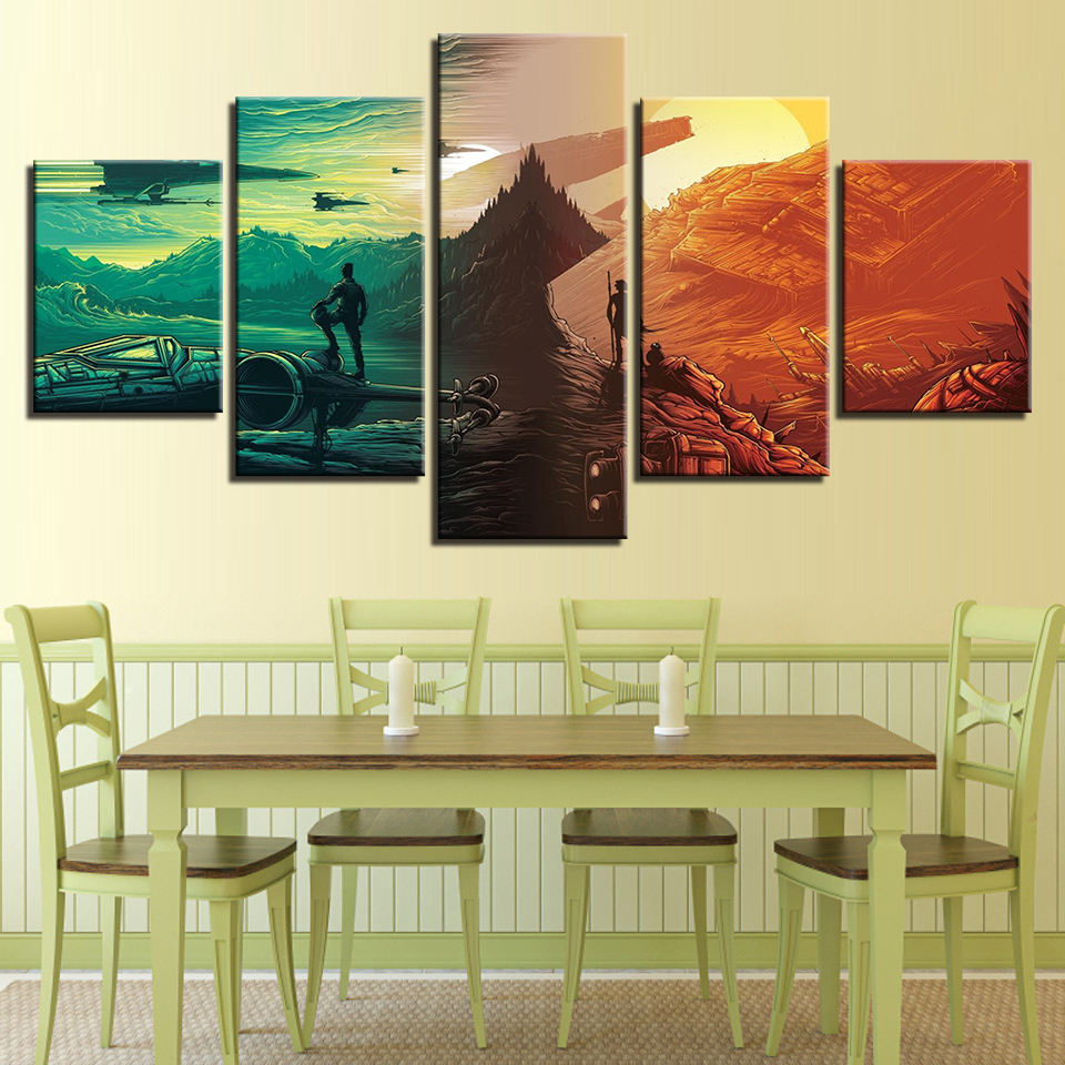 HD Modular Posters Printed Paintings 5 Panel Star Wars The Force ...