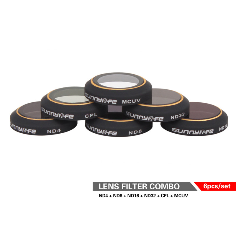 Snap on Filters Set 6Pcs ND4 / 8/16/32 CPL Cirkulär Polarizer MCUV - Kamera och foto