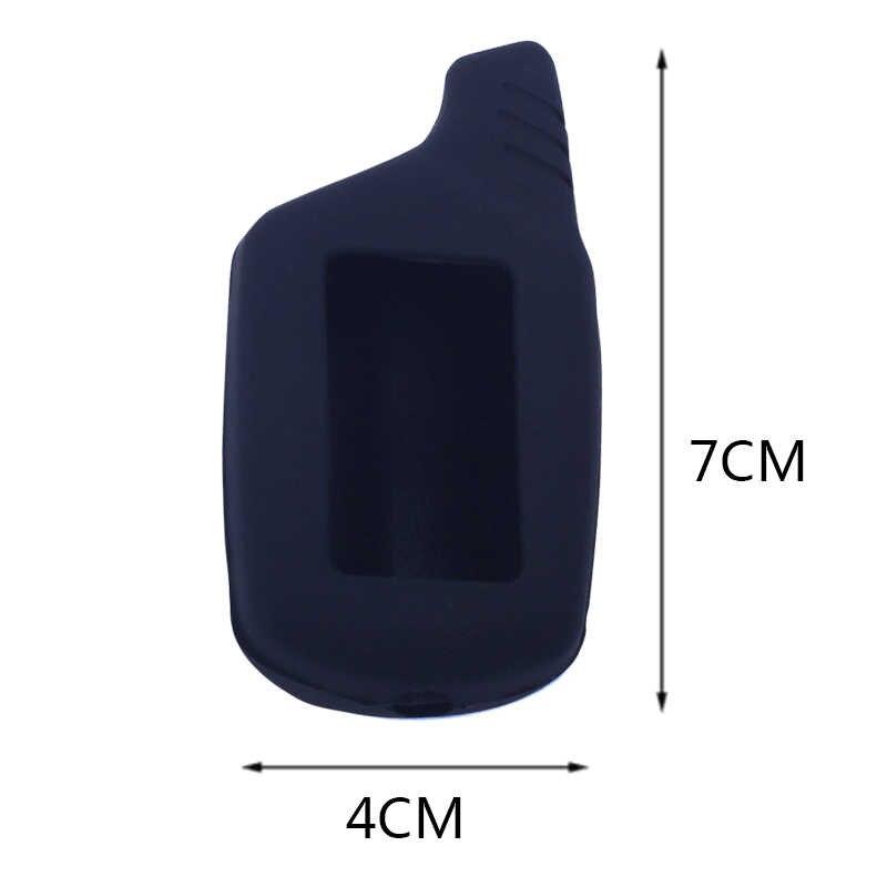 Coque en silicone à 3 boutons pour Starline B9 B6 B91 B61 A91 A61 V7 KGB FX-5 Jaguar ez-one Twage LCD 2 voies couleur d'alarme