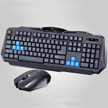 1 Set of Durable Fashion Colorful Ergonomically-designed Wireless Black Keyboard Mouse Combos for Office & Home & Computer & Gam