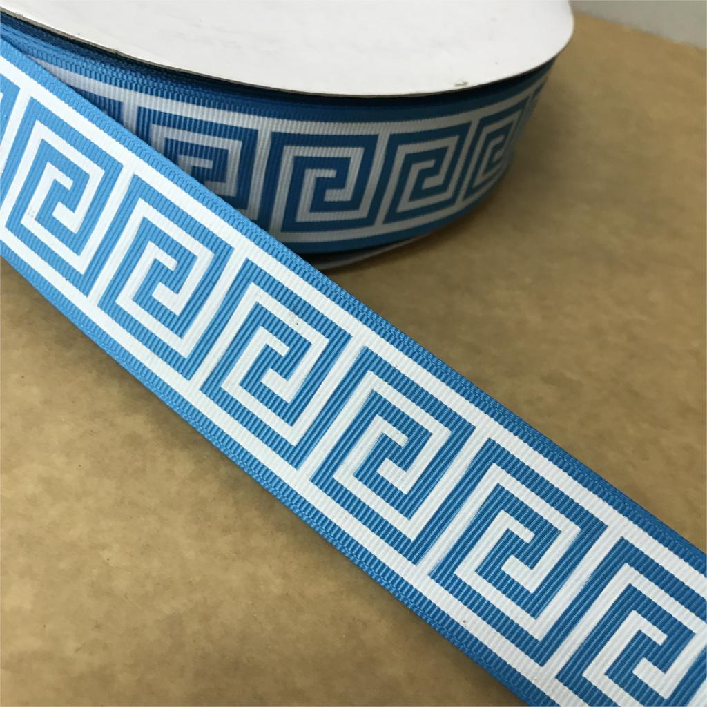 Сумасшедший скидка 1-1/2 «38 мм сине-белые Шаблоны печатных Grosgrain ленты для DIY волос Луки для малышей/детей ремесел 100 ярдов