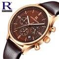 RON Relógios Top De Luxo Da Marca dos homens Novos da Forma dos homens Designer de Exibição Luminosa Mesa Masculino Relógio de Quartzo Grande Mostrador Relojes