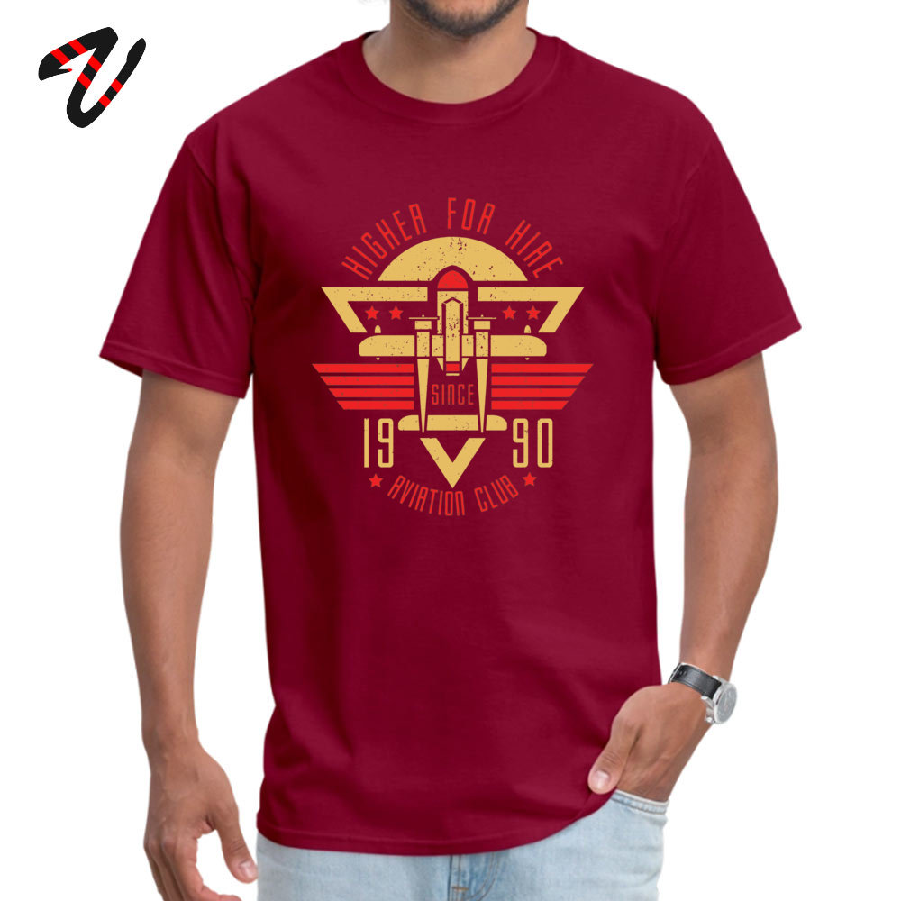 Aviation Club Summer Autumn 100% Cotton Crew Neck Tops Shirts Short Sleeve Camisa T-Shirt Coupons Family Top T-shirts Aviation Club 7088 maroon