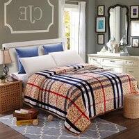 Plaid Mikrofaser Decke Für Bed Werfen Decken Cobertor Weich Und Exquisite Gefühl Maschine Waschbar 200x230 cm