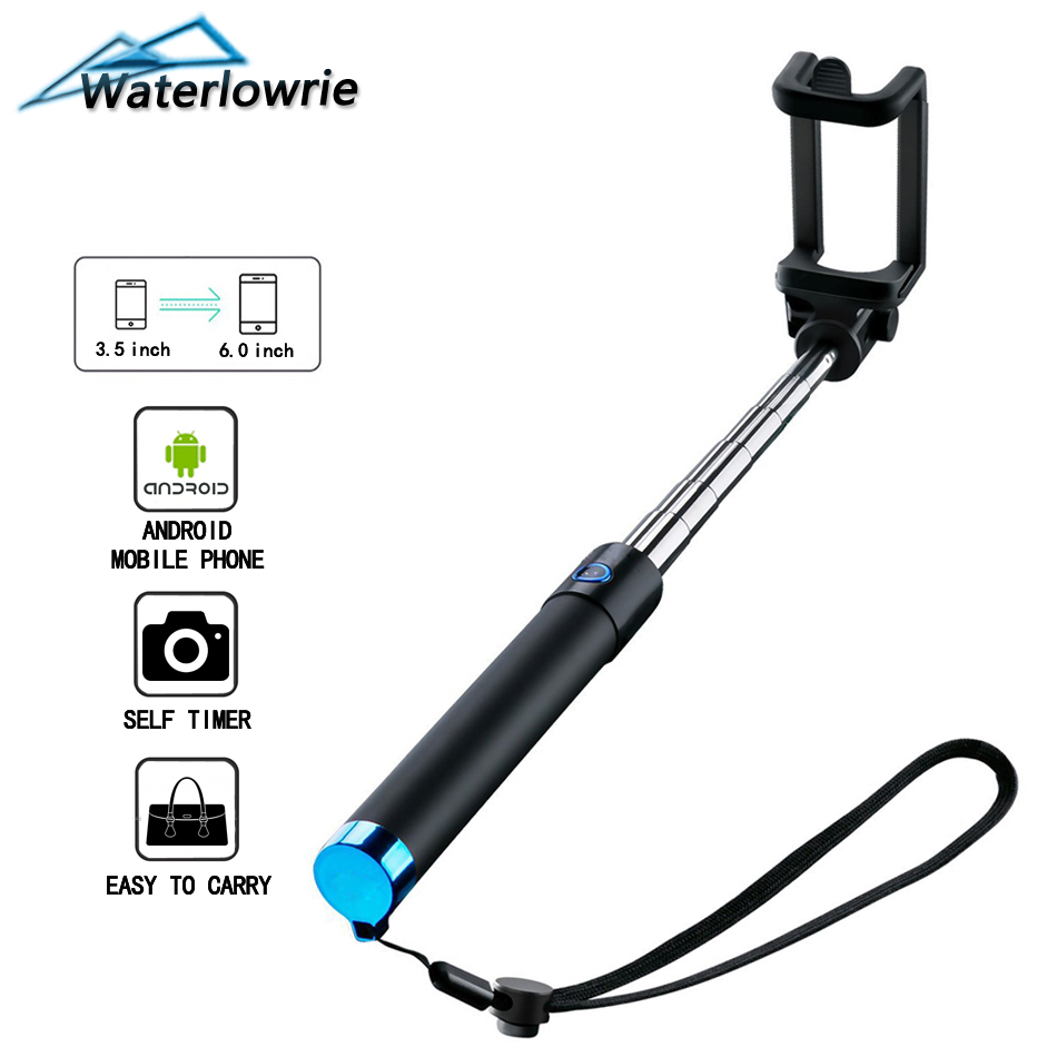 Selfie Stick Phone Wired Handheld Monopod for iPhone SE/6s/6/6 Plus, Samsung Galaxy S7/S6/Edge/S8/S8+, Note 8/5/4 Android Mobile pc material protective water resistance phone pouch for iphone 6 6 plus 6s samsung note 5 s6 edge plus etc