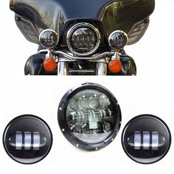 7 Inch Harley Daymaker LED Headlight+ 2x 4-1/2