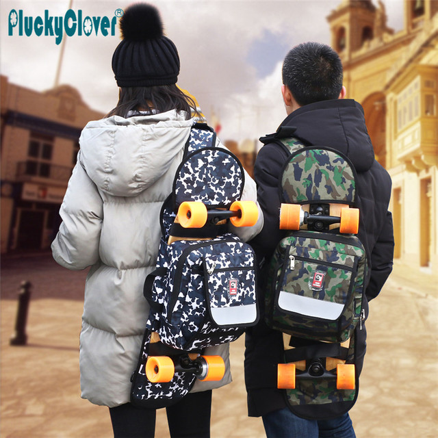 1pc 72x23x11cm Foldable Capacity Multifunctional Waterproof Outdoor Backpack Skateboard Carry Bag Longboard Travel Handy