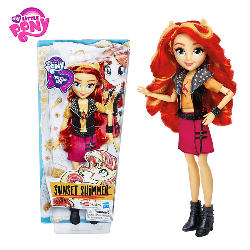 Hasbro My Little Pony Toys Equestria Girls Apple Jack Sunset Shimmer Pinkie Pie Anime Figure Toy PVC Collectible Model Doll константин ваншенкин родня