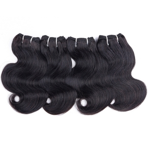 Image 3 - 50g/pc Peruvian body wave bundles with closure human hair bundles with closure UR Beauty Remy hair natural color can make a wig