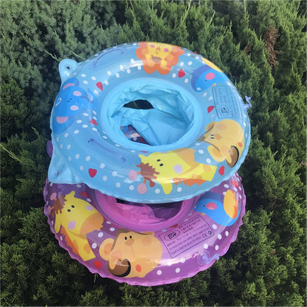 Kids 2color Seat Giraffe Lion Swimming Ring Gift Baby Floating Summer Child Inflatable Swim Toys Water Pool Tube Holiday