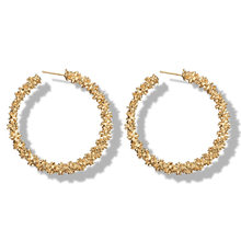 Big Hoop Earrings for Women Vintage Gold Color Round Fashion statement earrings 2018 Female Accessories jewellery(China)