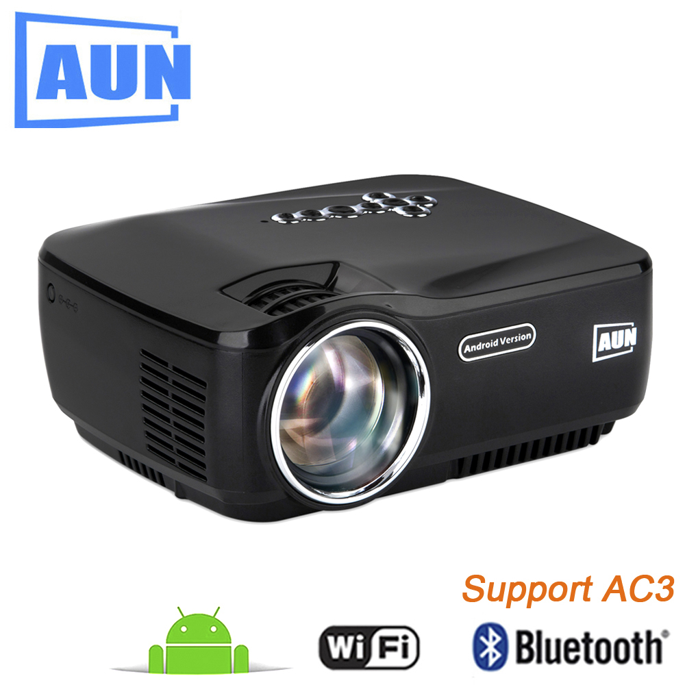 AUN AM01P LED Projector Support 1920x1080 with Android WIFI Bluetooth 3D Beamer for Home Cinema Free