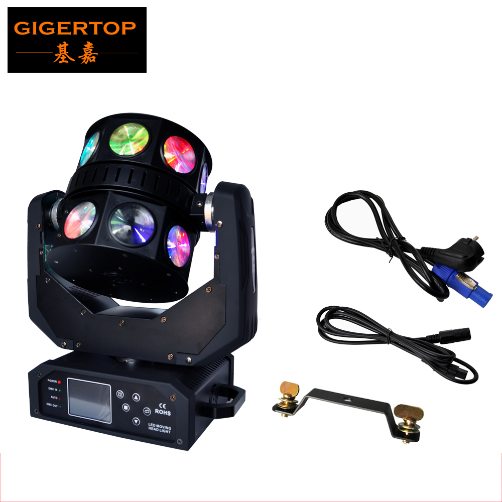 Freeshipping TIPTOP TP-L657 USA CREE RGBW 4IN1 Led Moving Head Double Fly Beam Light Touchable LCD Display Mounting Clamp With
