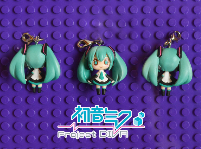 G594 Hatsune Miku Original Japanese anime figure PVC mobile phone charms keychain strap