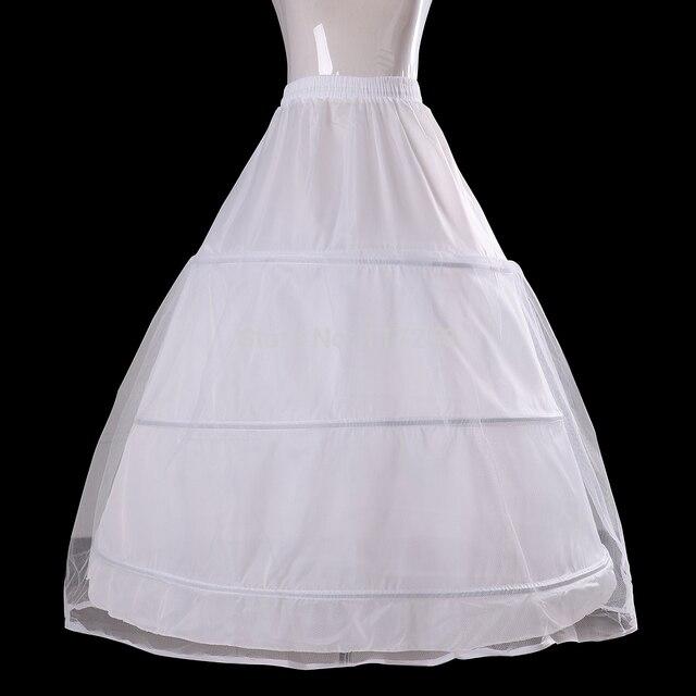 Novia de la boda accesorios vestido de novia enagua enagua de 3 anillos