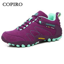 COPIRO Clorts New Lace-Up Women Hiking Shoes Sport Trekking Spring Summer Breathable Mountain Boots Waterproof Outdoor Sneakers
