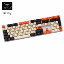 Carbon color 172 Key Dye-Sublimated thick English Korean Japanese PBT cherry profile MX switch For Mechanical keyboard keycap