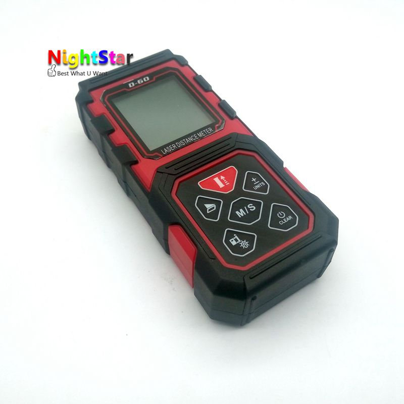 цена на 60m/229ft Digital Laser Distance Meter LCD Range Finder Measure Diastimeter metro laser medidor distancia digital telemetrolaser