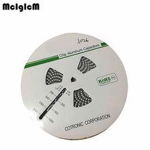 MCIGICM 500pcs 220 미크로포맷 50V 10mm * 10.2mm SMD 알루미늄 전해 콘덴서