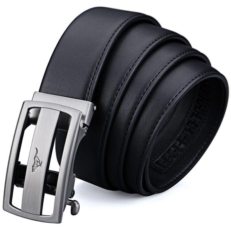 Septwolves hombres Cinturón Reversible hombre correa de cuero genuino cinturones automática de alta calidad hebilla negro y marrón cinturones 7A319184000