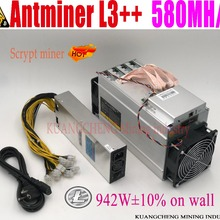 KUANGCHENG ANTMINER L3++ 580M(с БП) scrypt miner LTC Mining Machine 580M 942W на стене лучше, чем ANTMINER L3