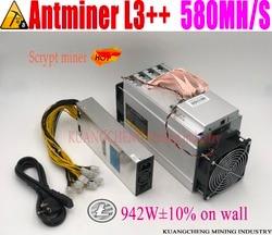 KUANGCHENG ANTMINER L3 + + 580M (con psu) scrypt miner LTC máquina de minería 580M 942W en la pared mejor que ANTMINER L3 +.