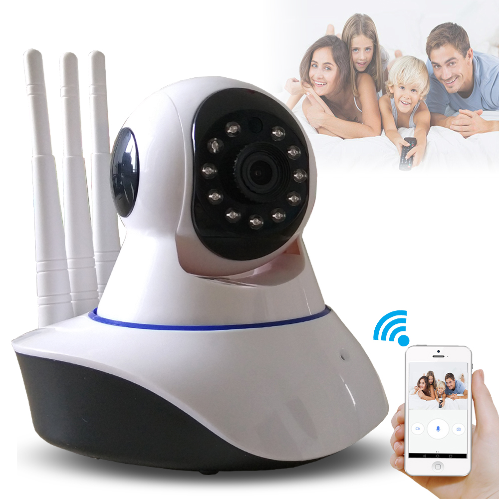 где купить Three Antenna Wireless CCTV Security Surveillance HD 1080P Wifi  IP Camera Baby Monitor IR Night vision Two Way Audio P2P Yoosee по лучшей цене
