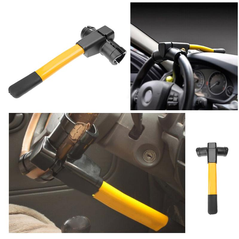 1Pcs Universal Car Steering Wheel Anti-theft Lock Auto Car Truck Security Lock Device Extra Secure with Tough Steel Construction