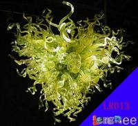 Big LR013 Free Shipping Best Lime Green Glass Chandelier Flowers