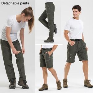 Image 1 - Outdoor Sport Detachable Pants Shorts Women Men Summer Hiking Pants Waterproof Quick Dry Cargo Pants Climbing Trekking Trousers